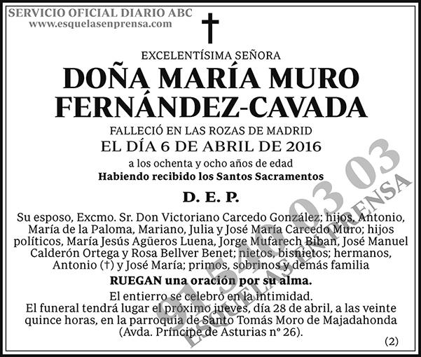 María Muro Fernández-Cavada